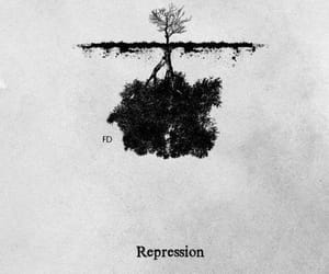 represion, tree, and black image