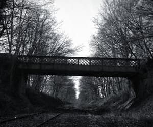 abandonned, lost, and bridge image
