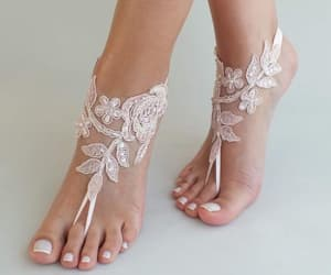 bridesmaid, etsy, and barefoot sandals image