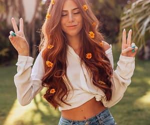 redhead, fashion, and girl image