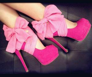 bows, heels, and pink image