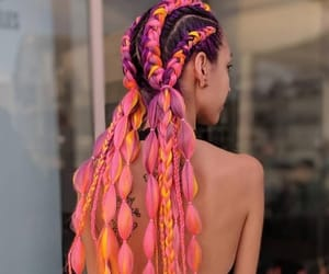 braid, festival, and fluo image