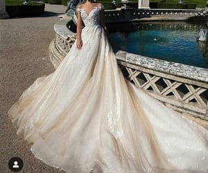 dress, long, and wedding image