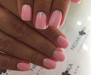 glitter, pink, and nail art image