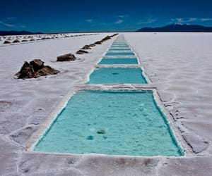 blue, salt flats, and desert image