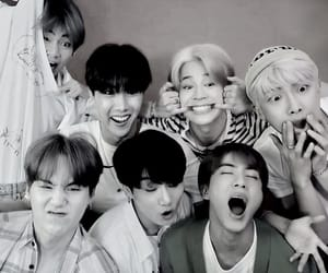 b&w, jin, and v image