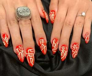 japanese, nails, and red image