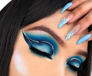 blue, eyeshadow, and fire image