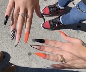 nails, black, and orange image