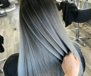 beauty, black, and gray hair image