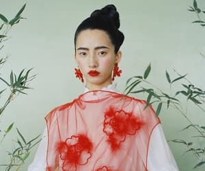 art, asian, and earrings image