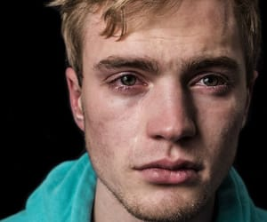 boy, cry, and eyes image