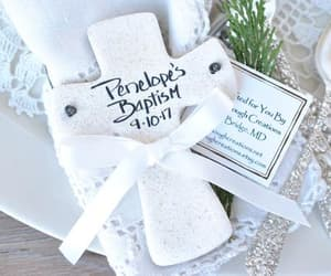 cross, baptism favors, and christening favors image