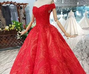 ball gown, red, and quinceanera dresses image