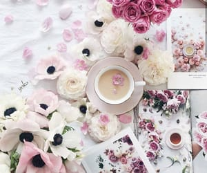 coffee, cup of coffee, and spring day image
