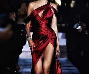 dress, red, and red dream image