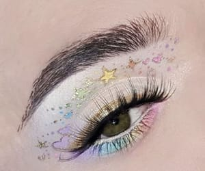 art, eyes, and stars image