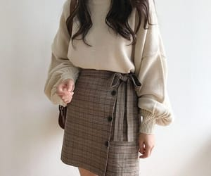 beauty, beige, and fashion image