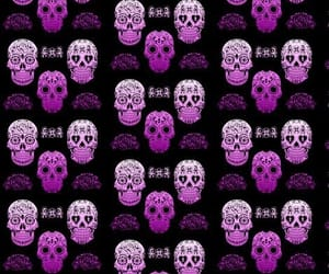 pattern and skulls image