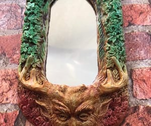 etsy, green man, and faerie image