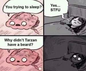 beard, funny, and random image