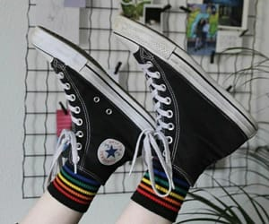 black shoes, colors, and colours image