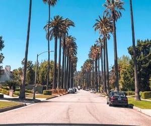 blue sky, la, and california image