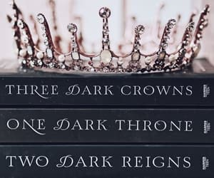 books, crown, and Dream image
