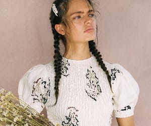 braids, fashion, and flowers image