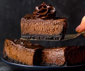 cake, cheese, and chocolate image