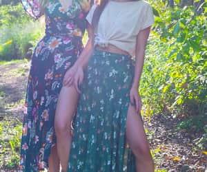 bohemian, wrapskirt, and floral image