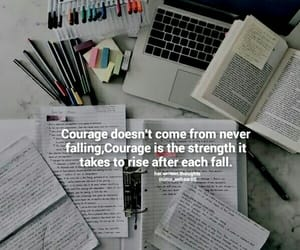 books, courage, and exams image