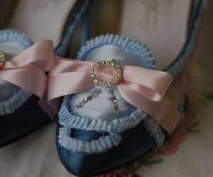 blue, bow, and fashion image