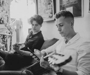 black and white, guitar, and the vamps image