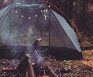 fire, camping, and travel image