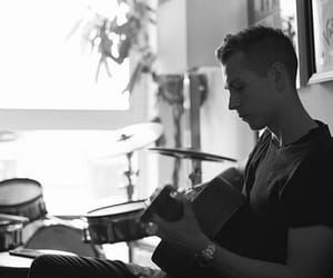 black and white, the vamps, and james mcvey image