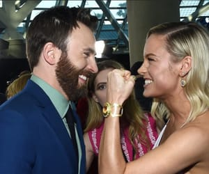 captain america, chris evans, and brie larson image