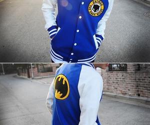 batman, blue, and boy image