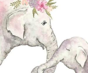 animal, art, and Éléphant image