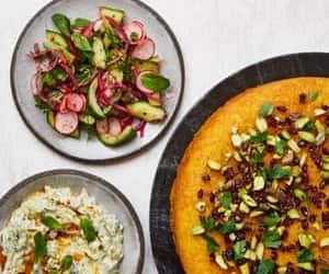 pistachio, salad, and yoghurt image