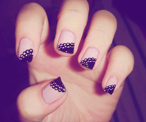 black and white, fun nails, and nails image