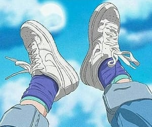 anime, aesthetic, and blue image