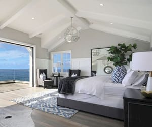house, beach, and bedroom image