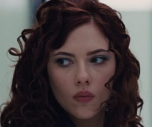 black widow, iron man, and Scarlett Johansson image