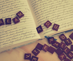Dream, book, and letters image