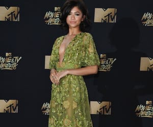 zendaya, mtv, and green image