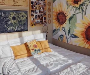 home, room, and sunflower image