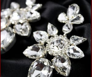 crystal jewelry, wedding jewelry, and crystalearrings image