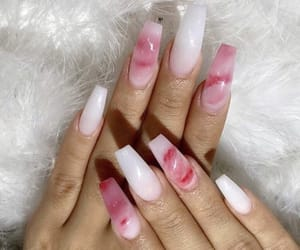 clear, nails, and red image