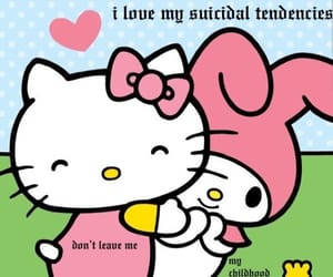 my melody, hello kitty, and sanrio image